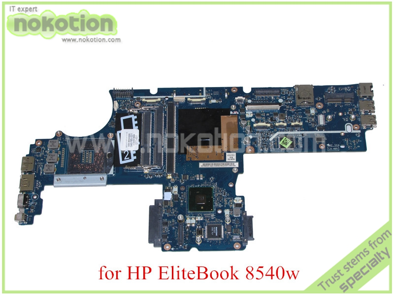 NOKOTION 595765-001 604538-001 KAQ00 LA-4951P Rev 1.0 for HP Elitebook 8540W 8540P Motherboard DDR3 QM57 with graphics slot free shipping 595764 001 kaq00 la 4951p for hp elitebook 8540p 8540w series laptop motherboard all functions 100