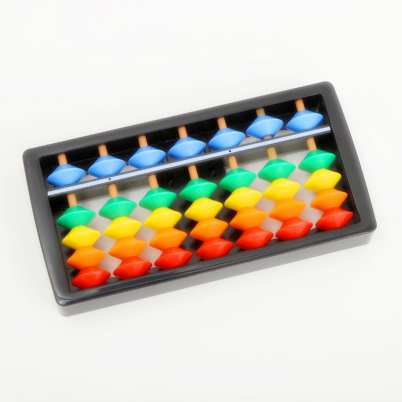 7 Digits Plastic Abacus Toys Educational Toy Colorful Abacus Arithmetic Maths Kids Learning Educational Caculating Tools Gifts