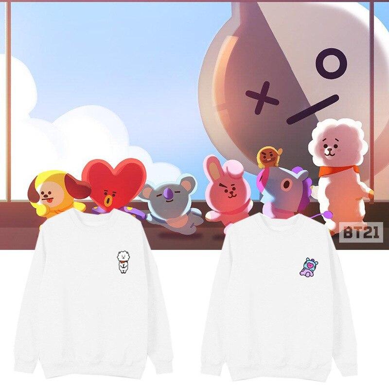 Kpop home New BTS Bangtan Boys Fans Club bt21 Same Q blouse hoody cool sweatshirt harajuku style man womans hoodie