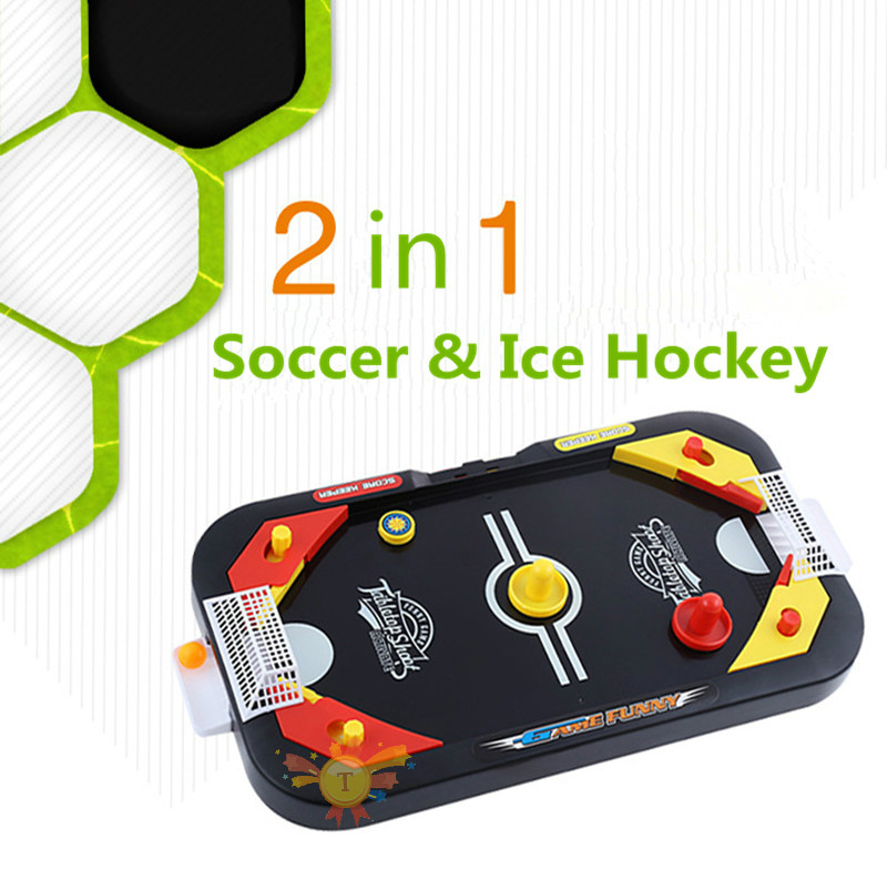 Desktop Battle 2 In 1 Soccer & Ice Hockey Table Ball Shoot Mini ...