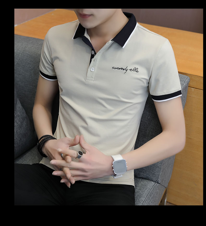 Short-sleeved T-shirt men's fashion casual cotton clothes decorated with multi-color optional 102