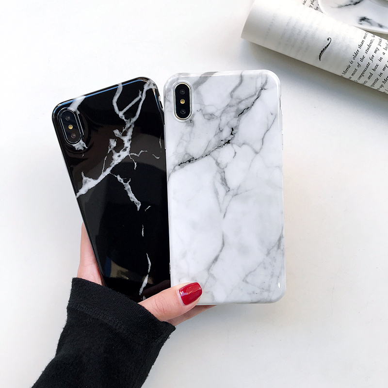 Buy For iPhone 6 New Luxury Glossy Marble Veins Phone Case For iPhone X Xs Max XR  6S 7 8 Plus Cases Dreamlike TPU Case Cover Fundas for only 2.09 USD