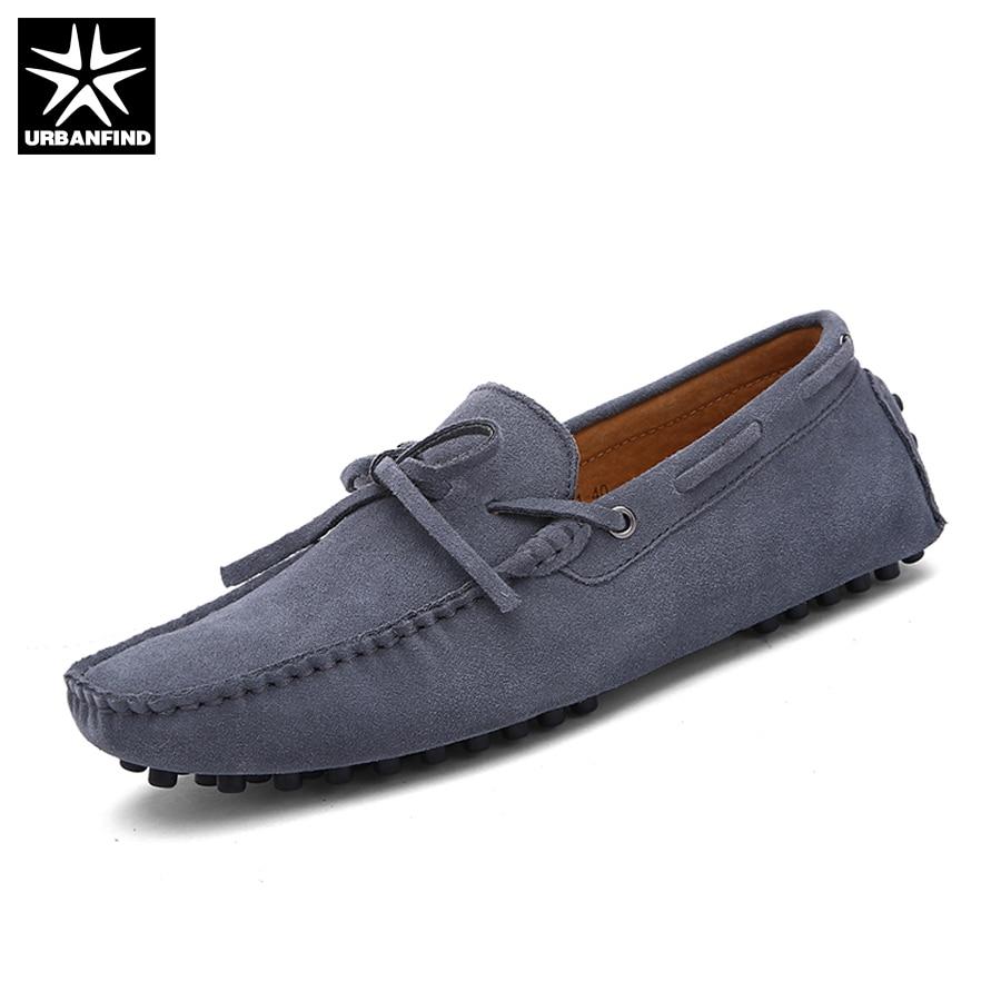 Marque Nouvelle Mode D'été Printemps Hommes Conduite Chaussures Mocassins Chaussures Bateau En Cuir Respirant Mâle Casual Appartements Mocassins Taille 38- 49