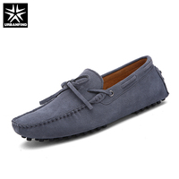 URBANFIND Brand Fashion Summer Soft Moccasins Men Casual Loafers Size 38 45 Suded Leather Shoes Men