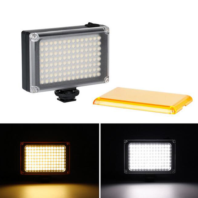 112 LED Video Light Photo Fill Lighting Battery Filters for Nikon Canon DSLR Camera Smartphone for Youtube Vlogging Live stream image