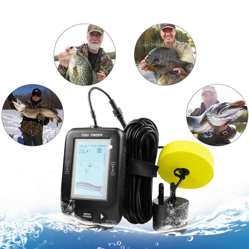 Erchang XF02 Hot Sale Alarm 100M Portable Sonar LCD Fish Finders Fishing lure Echo Sounder Fishing Finder For Normal Fishing