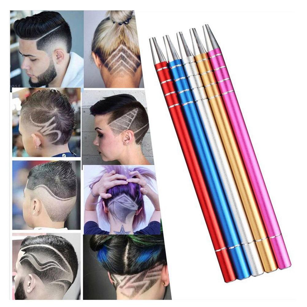 Hair Tattoo Trim Styling Razor Pen Eyebrow Shaping Device Hair Shear Engraving 10 Blades Tweezers Beards Shaving Scissors Tools