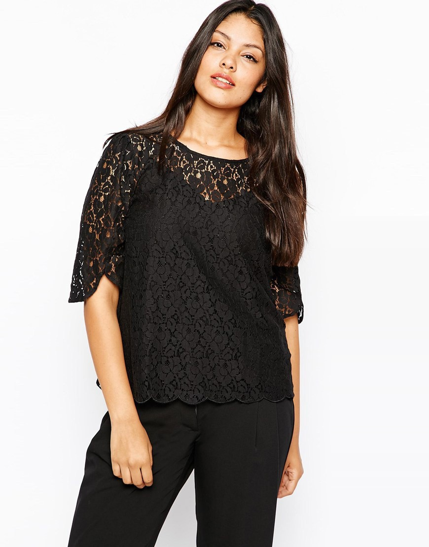 83e5fe439f 6XL Black Lace T shirt Women Plus Size Cloting Female Summer Tunics 5XL Big  Size Ladies