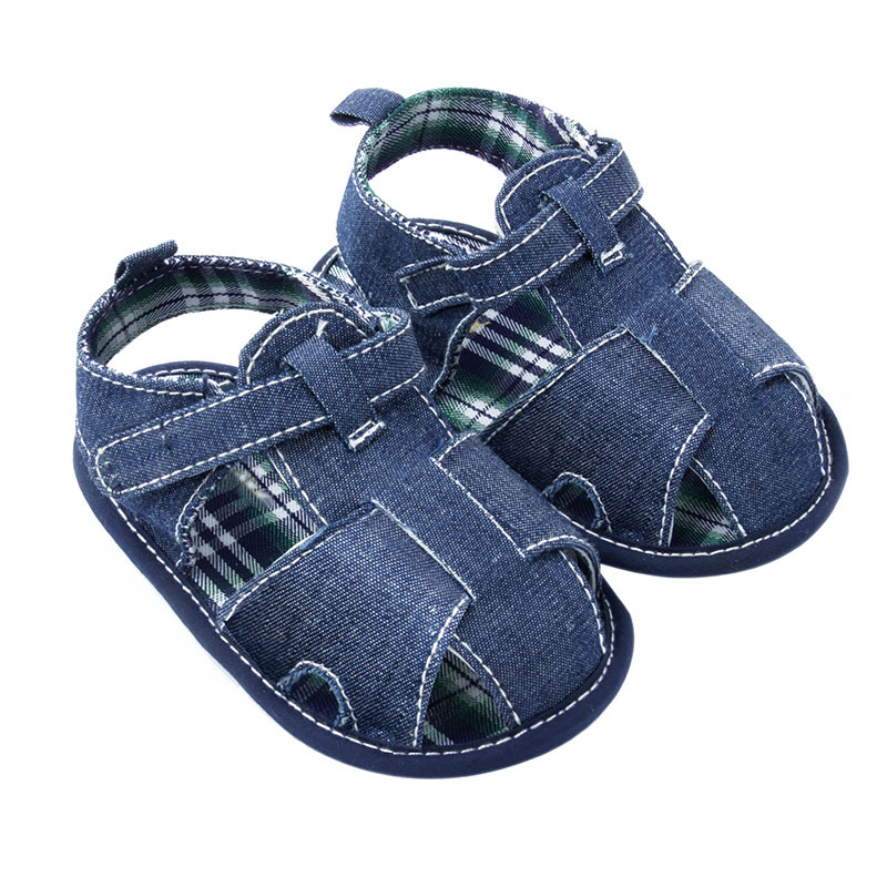 Scarpe New New Blue Jean Baby Scarpe Summer Toddler First Walkers