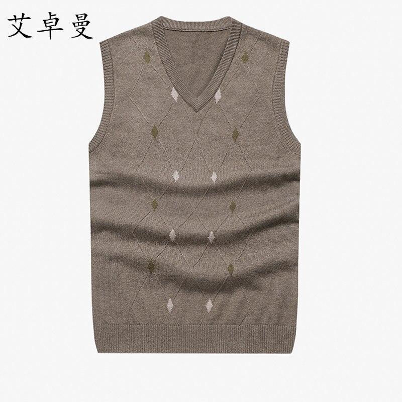 Heißer Verkauf Männer Strickweste Herbst Winter Herren Pullover Gestrickten Pullover Mann Lässig Wolle Pullover Westen