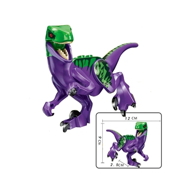 Locking Blocks Jurassic Dinosaurs Tyrannosaurus Rex Wyvern Velociraptor Stegosaurus Building Blocks Toys For Children Dinosaur 5