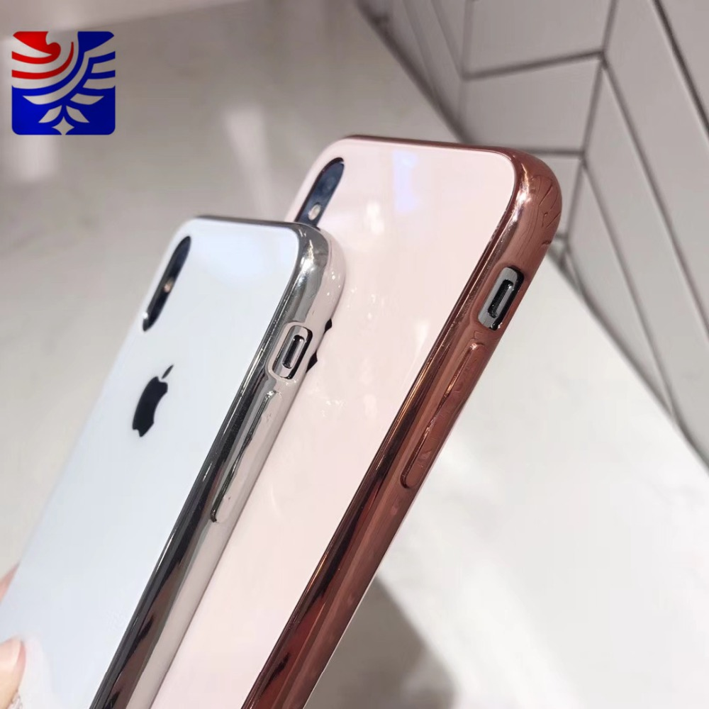 PEIPENG Luxury made of electroplated glass Anti-fall Phone Cases For iphone 6 6S 7 8 Plus X Xs Max Christmas gift Girl Simple and stylish15