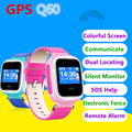 Оптовая GPS Q60 Смарт Часы Цветной Экран Наручные SOS Вызова Расположение Finder Locator Устройства Трекер Малыш Сейф Анти Потерянный Монитор