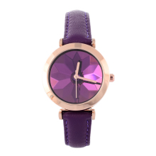 Montre Femme Special Refracted Lotus Floral Watches Women Pretty Candy Colors Leather Wristwatch Students Relojes Relogios W050