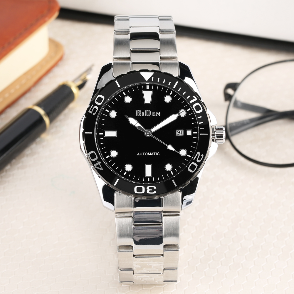 Business Automatic-self-winding Mechanical Watches for Men Calendar Function Mechanical Watch for Male Stainless Steel WatchesBusiness Automatic-self-winding Mechanical Watches for Men Calendar Function Mechanical Watch for Male Stainless Steel Watches