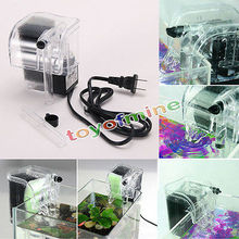 Fish Turtle Tank Aquarium External Oxygen Pump Waterfall Filter Mini Aquarium Power Filter 3.5W 250L/H Water Circulation