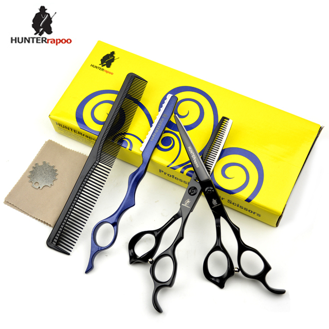 30% Off 6 inch Professional Barber Scissors Cutting Thinning Shears Hair Scissors Set Stainless Steel 440C Haircut Clipper