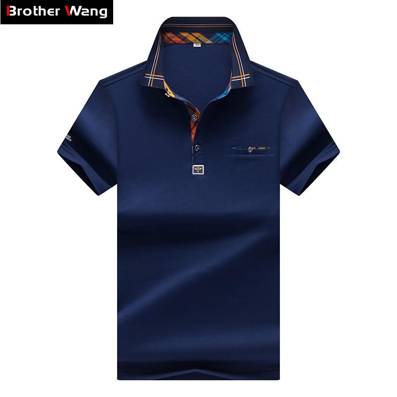 Tops & Tees Men's Clothing Cheap Price 2019 New Mens Polo Shirt Fashion Hit Color Lattice Collar Casual Pure Color Paul Shirt Brand Polo Shirt Mens Clothing