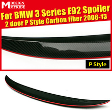 E92 Rear Spoiler AEP Style Red line Carbon Fiber For 2-Door 335i 330i 328i 325i Trunk Wing car styling 2006-13