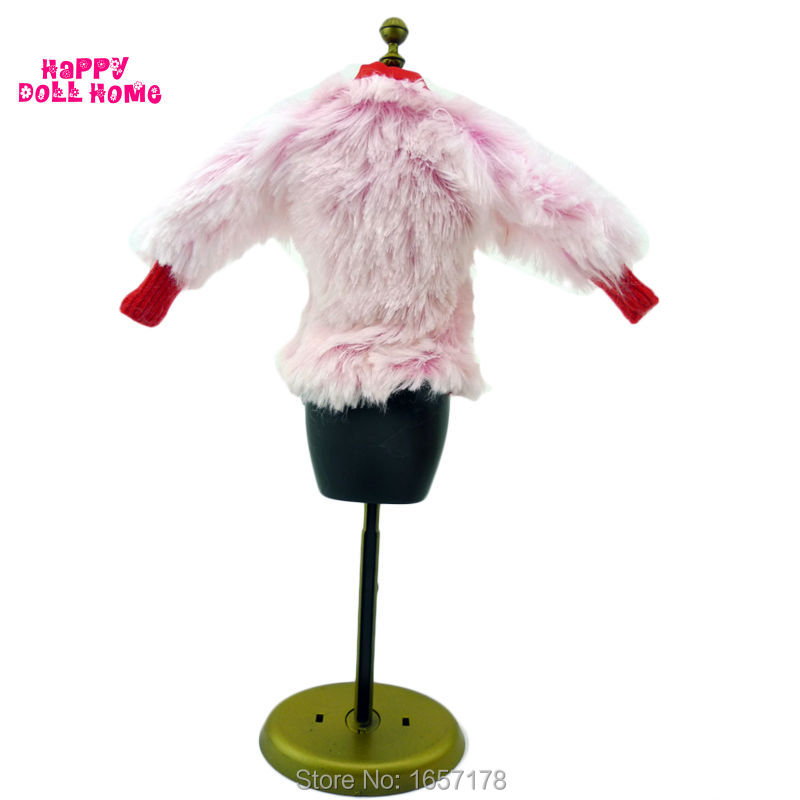 Fashion Winter Wear Fur Coat Lady Jacket Accessories Clothes For Barbie Doll Kid Play House Toy Gift