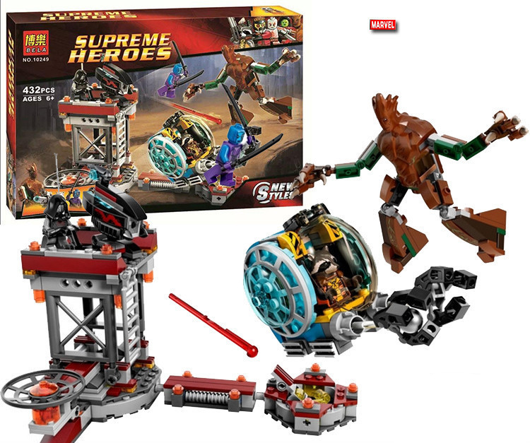 Bela 10249 Super Heroes Avengers Guardians Of The Galaxy Knowhere Escape Mission Building Blocks Sets Toys Compatible With Legoe