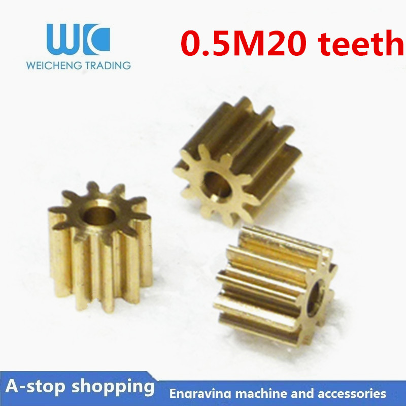 10pc 0.5M 20 Teeth  0.5mod  Gear Rack Spur Gear Precision Copper Steel Cnc Pinion