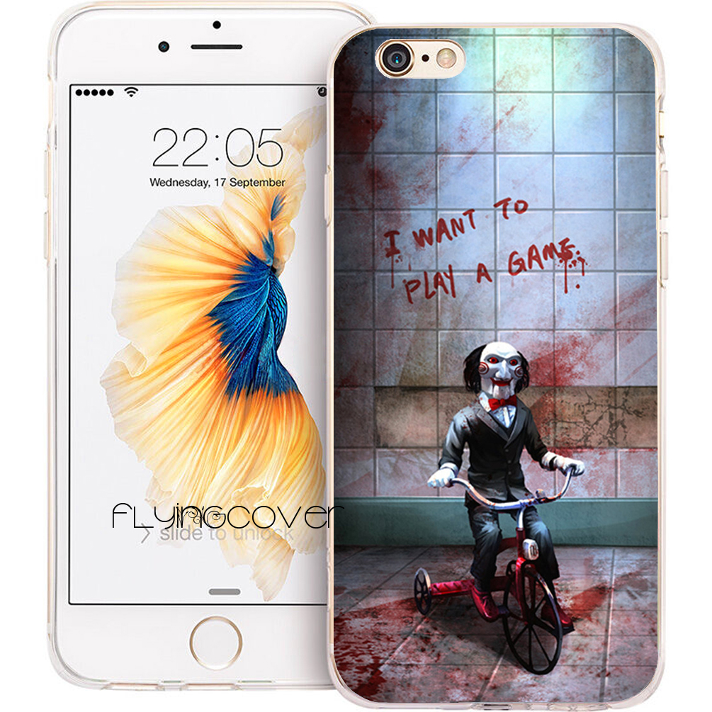 Coque Jigsaw Killer SAW Clear Soft Silicone Phone Case For