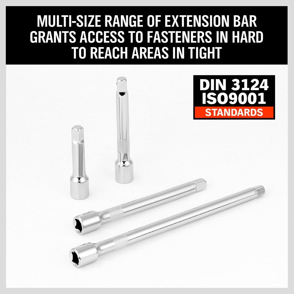 "4X 1//4/"" LONG Extension Extender Bar Set 2/"" 3/"" 4/"" 6/"" Socket Ratchet Wrench O2I9"
