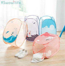 Foldable Cartoon Large Capacity Laundry Baskets Collapsible Basket For Clothes Storage Tool