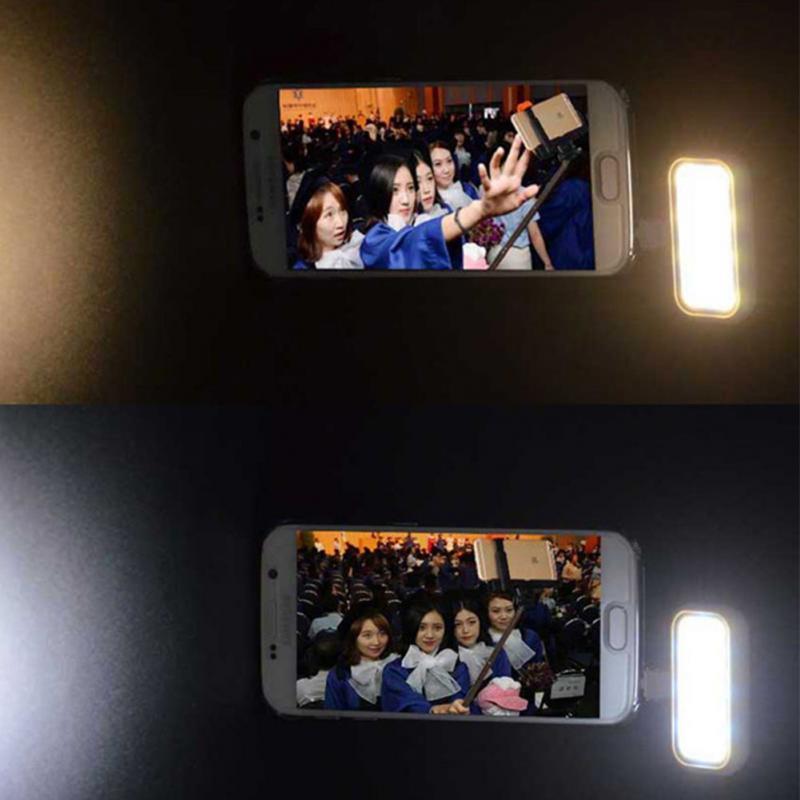 LED Lighting Selfie Flash Fill Light For Camera Phone Lens For iPhone 4 5 5C 5S SE 6 6S 7 Multiple Photography Selfie Sync Flash