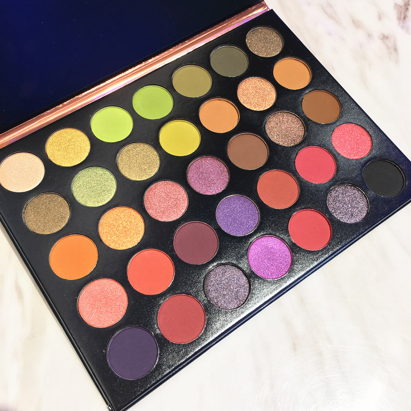Beauty Glazed New Natural 35 Color Eyeshadow Palete Matte Shimmer Eye Shadow Palette Charming Eye shadow Makeup Powder Cosmetics in Eye Shadow from Beauty Health