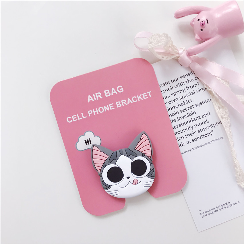 Mobile Phone Holders Stands Universal Cat claw mobile phone stretch bracket Cartoon air Expanding Stand