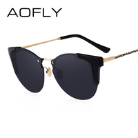 AOFLY Vintage Sunglasses Fashion Cat Eye Sunglasses Women Luxury Brand Designer Mirrors Eyewear Lunette De Soleil