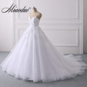 Image 2 - Summer Lace Wedding Dress 2020 Spaghetti Straps Plus Size Bridal Dress Simple Vestidos de Noiva свадебные платья for Women