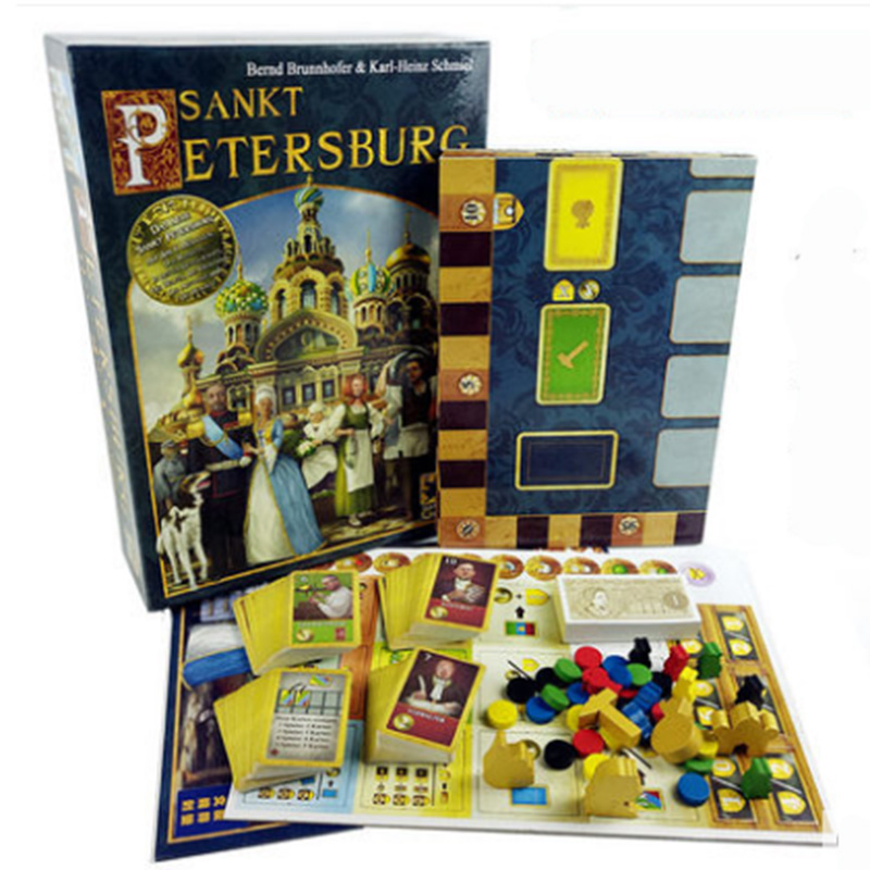 Saint Petersburg+Extended Board Game 2-5 Players to Play Family/Party/Friends Funny Game aurora ручка роллер aurora au d71 n