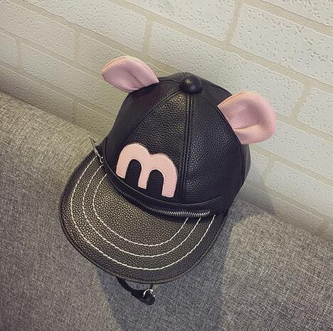 M598 Cute  Individual Character Cartoon Hat  Pu Leather Backpack Shoulder Bags  Small Size Girl Gift Wholesale