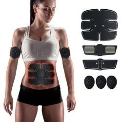 EMS entrenador músculo estimulador entrenador inteligente entrenamiento Abdominal ABS estimulador Cuerpo Adelgazante cinturón Unisex pegatinas