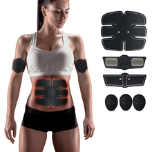 EMS trainer Muscle Stimulator Trainer Smart Fitness Abdominal Training ABS Body Slimming Belt Unisex Stickers