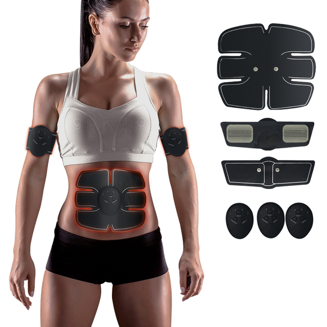 EMS trainer Muscle Stimulator Trainer Smart Fitness Abdominal Training Stimulator Body Slimming Belt Unisex Posture Corrector