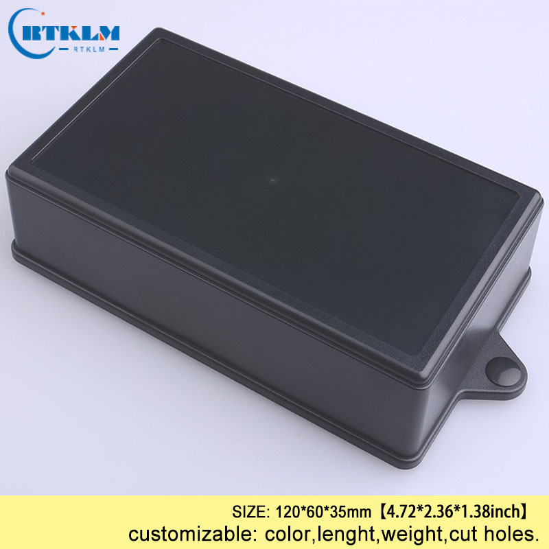 5PCS/lot wall mount junction box abs plastic enclosure diy project case electrical speaker 120*60*35mm