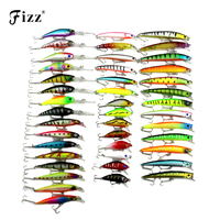 43 Pcs Pack 6 Model Minnow Fishing Lure 3D Fish Eye Minow Hard Plastic Fishing Wobblers