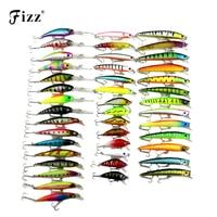 43 Pcs Pack 6 Model Minnow Fishing Lure 3D Fish Eye Minow Hard Plastic Fishing Wobblers