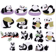China animal black white 15 Patch Embroidered Badge Repair Patches For Clothing Iron On Close Shoes Bags Badges Embroidery