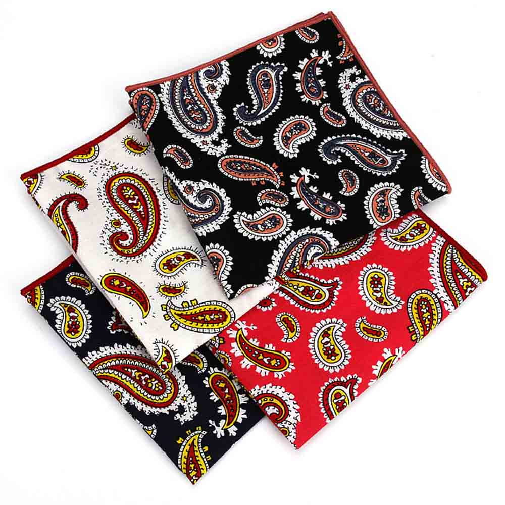Men's Tuxedo Paisley Pattern Pocket Square Wedding Business Hanky Handkerchief YFTIE0217