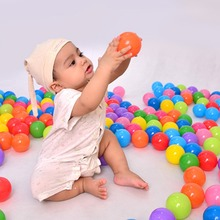 100pcs lot Eco Friendly Colorful Ball Soft Plastic Water Pool Ocean Wave Ball Stress Air Ball