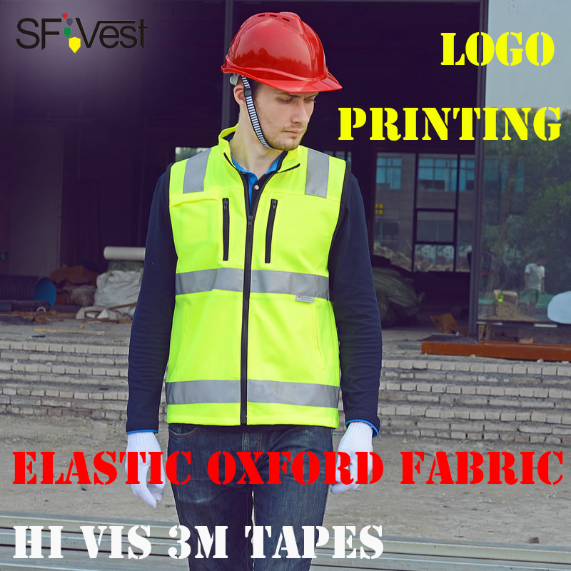 SFVEST REFLECTIVE WAISTCOAT FOR BUILDER WORKER OXFORD 3M SCOTCHLITE TAPES MOTORCYCLE VEST WITH ID POCKETS MENS FREE DELIVERY salzmann 289 9 reflective 3m scotchlite
