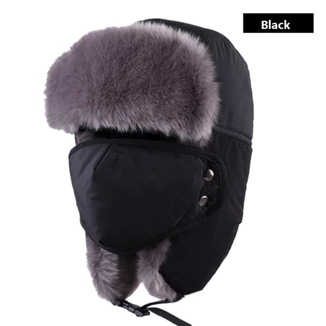 667b12c2cacb8 Unisex Winter Hiking Hats Windproof Hunting Outdoor Bomber Hats Thicken  Balaclava Cotton Fur Earflap Thermal Russian Skull Mask