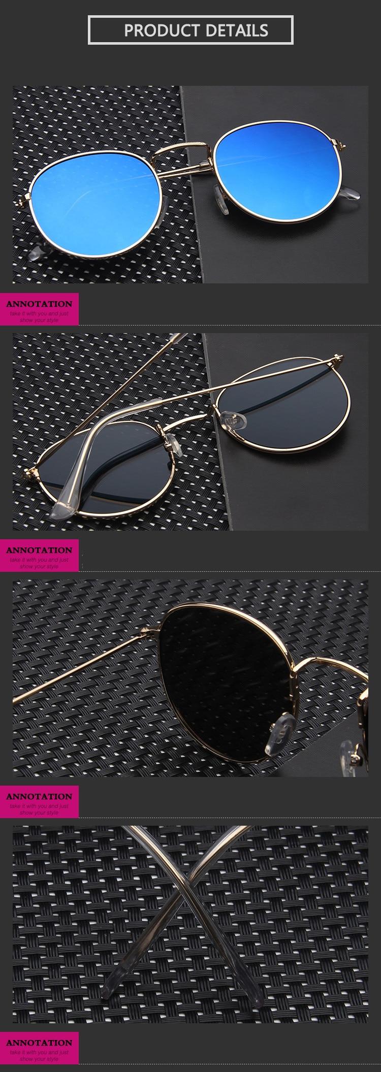 Mirror Round Sunglasses Men Women 13