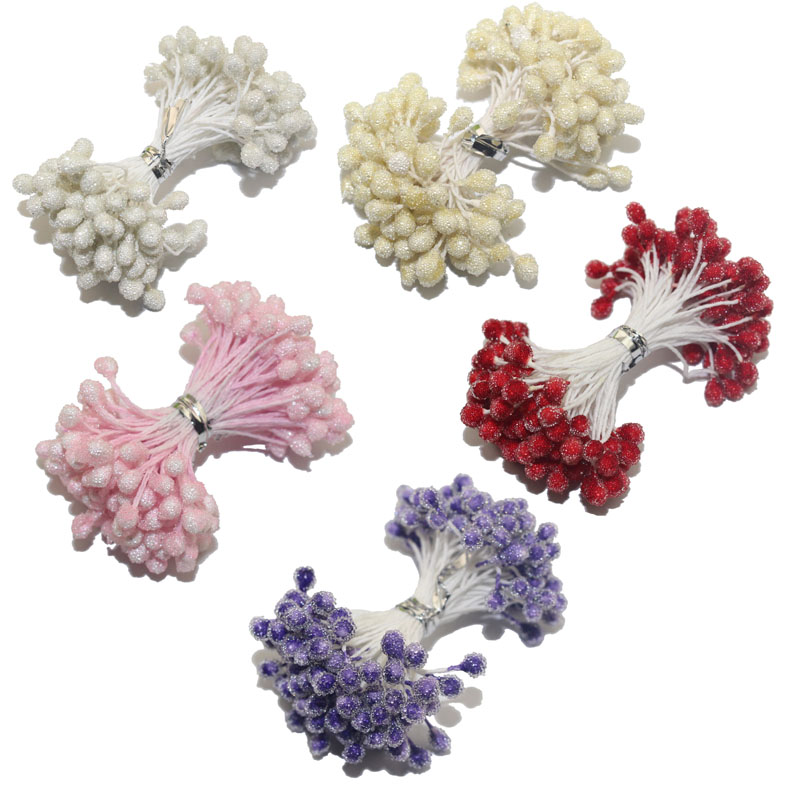 85 шт./лот 5 мм голову цветок Стекло тычинки один Цвет один лот