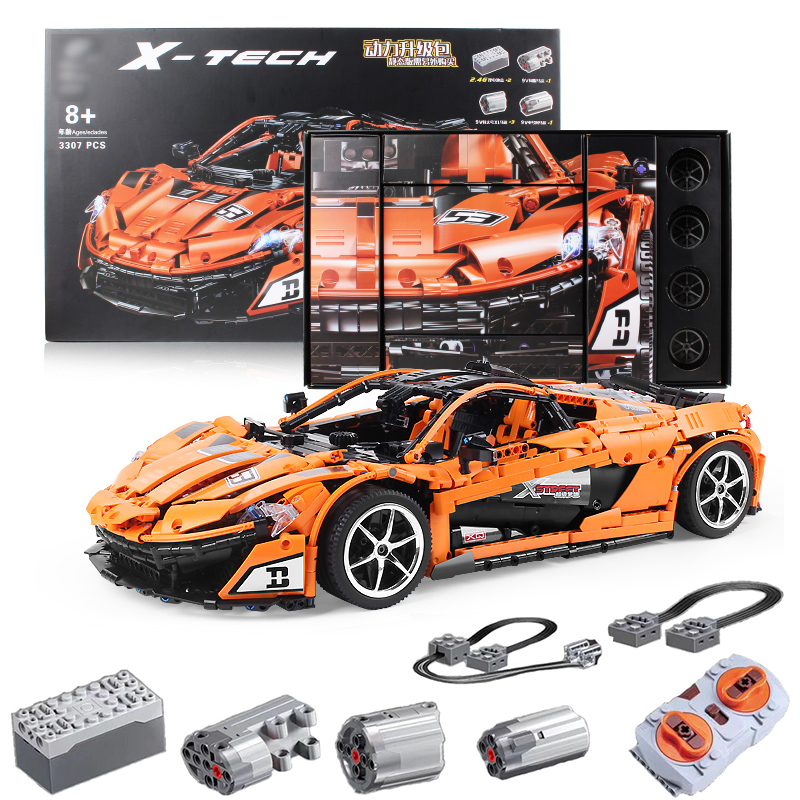P1 Racer Compatible with Technic The MOC 16915 RC Super Racing Car Building Blocks Bricks DIY